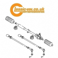 Steering Rack Kit Left Hand Drive Mk1 Golf, Jetta, Scirocco, Caddy